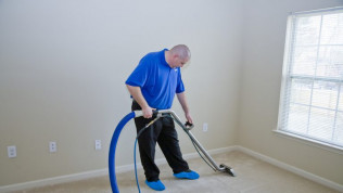 A residential carpet cleaning project in Cheyenne, WY